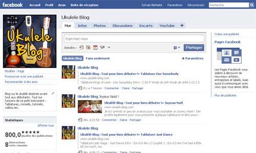 Ukulele Blog sur Facebook